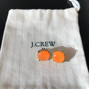 J Crew bright orange gum drop earrings